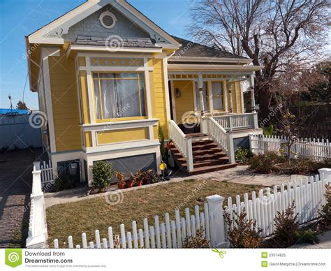 One Story Tiny House small victorian style house stock image image 23314825
