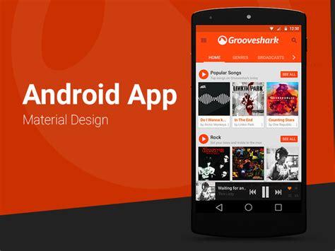 grooveshark mobile app grooveshark android app materialup