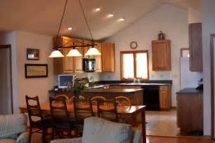 cathedral ceiling kitchen lighting ideas design rustic rural style pendant