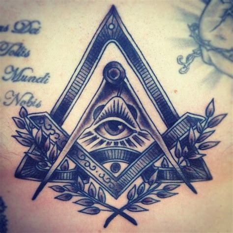 free mason tattoo freemason compass and square freemason tattoos