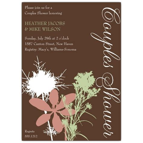 Couples Shower Invitation by Floral And Brown Couples Shower Invitations Paperstyle