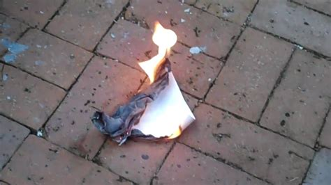 How To Make Burnt Paper - burning a random of notebook paper