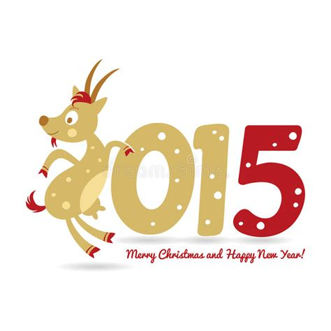 new year goat symbolism happy new year and goat symbol of the new year stock