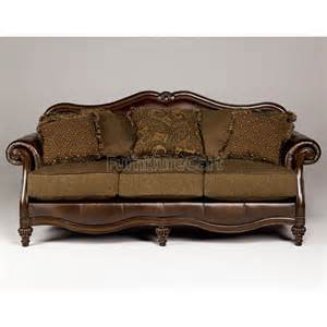 claremore antique sofa claremore antique living room set signature design