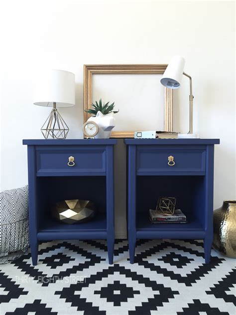Painted Nightstands by Modern Painted Nightstands With Country Chic Paint