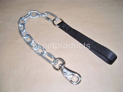 chain leash 7 8 mm heavy duty 30 quot chain leash pit bull leash ebay
