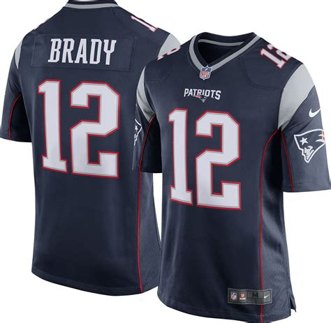 reebok new patriots tom brady 12 white authentic
