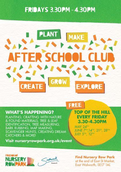 School Gardening Club Ideas After School Club Nursery Row Park