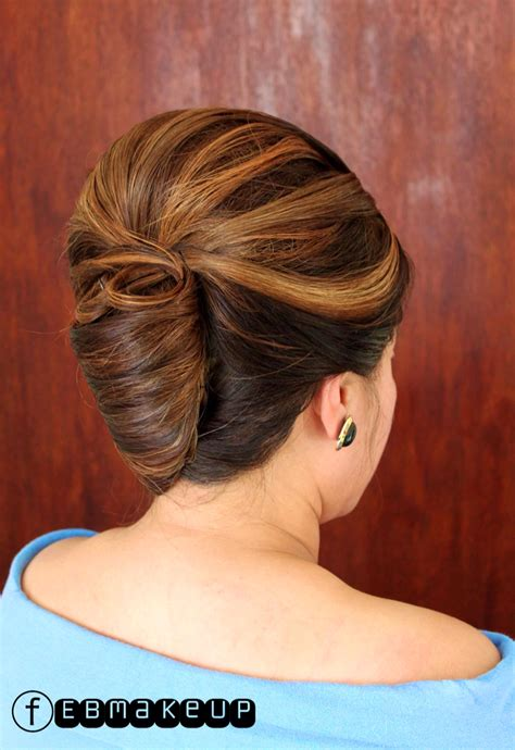 asian hairstyles buns french twist elegant highlight hair formal updo bridal