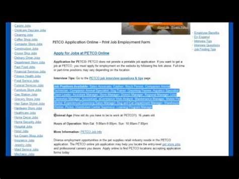 online application petco online application