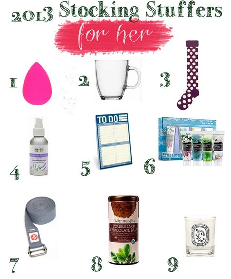 stocking stuffer ideas for her stocking stuffer gift guide 2013 yogabycandace