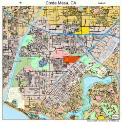 map of costa mesa california costa mesa california map 0616532