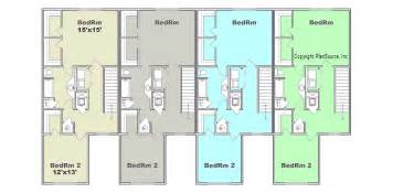 4 unit apartment building plans 4 plex plan j0121 12 4 plansource inc