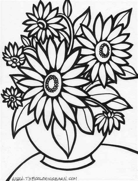 flower coloring sheet flower coloring pages 17 only coloring pages