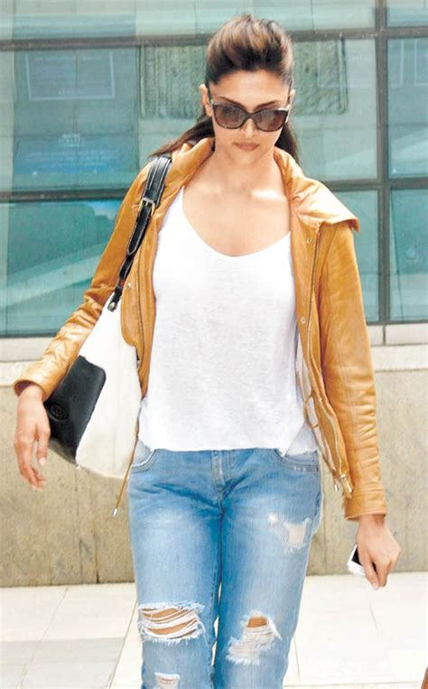deepika padukone jacket how to style your plain boring t shirts live the diva in you
