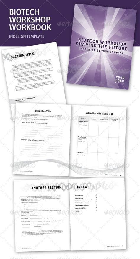 workbook template indesign workbook template indesign biotech workshop indesign