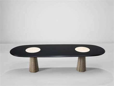 marble column table l attributed saporiti conference table with marble columns