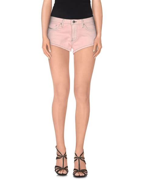 Diesel Denim Shorts In Pink Light Pink Save 43 Lyst