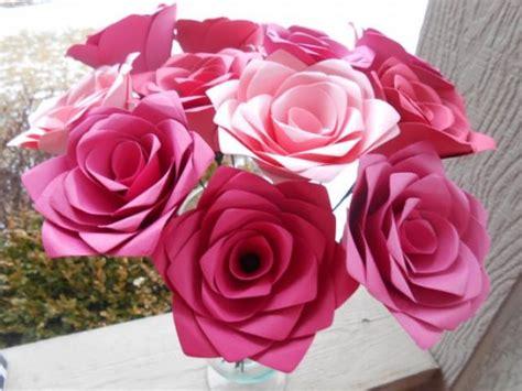 Handmade Roses Paper - dozen pink paper roses paper flowers that last forever