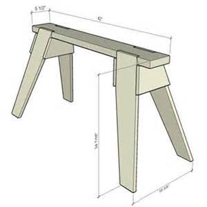 Plans Com build a classic sawhorse saw horse s amp benches