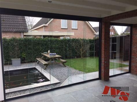 glaswand veranda glazen schuifwand 640mm glaswanden veranda discount nl