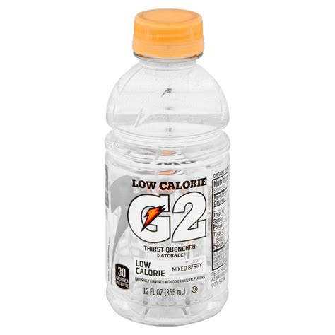 7 Low Cal Flavor Boosters by Gatorade G2 Nutrition Facts Label Nutrition Ftempo