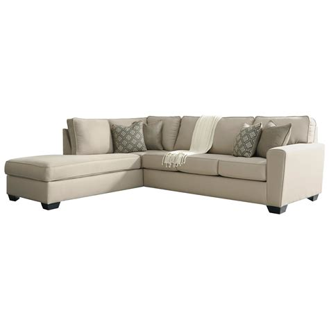 benchcraft sectional benchcraft calicho contemporary sectional with left chaise