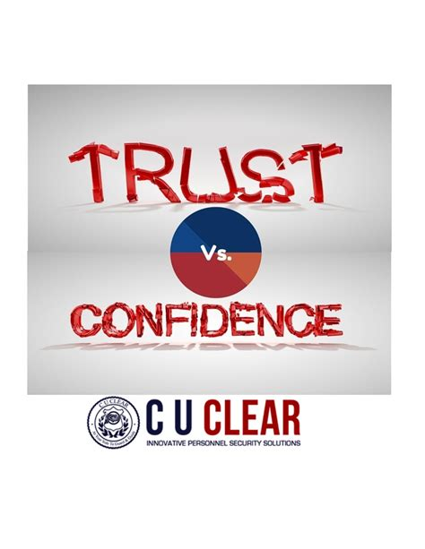 trust background investigation the difference between trust and confidence