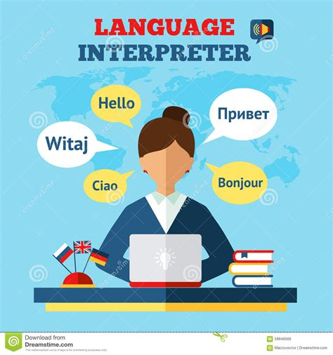 language translator language translator illustration stock vector image