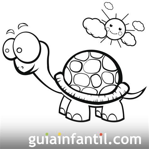 imagenes de tortugas faciles para dibujar tortuga tomando sol dibujo para colorear dibujos de