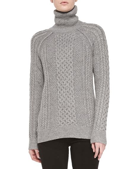 cable knit turtleneck sweater vince cable knit turtleneck sweater