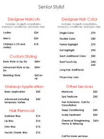 regis hair salon price list braehead nail salon price list sle