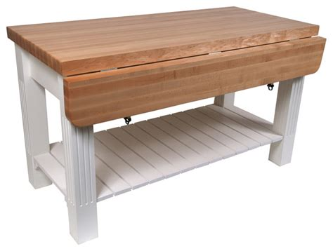 kitchen island butcher block table john boos maple grazzi butcher block table with drop leaf