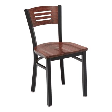 Cafe Chairs by Kfi Seating Slat Back Cafe Chair W Wood Seat Back 3315b Restaurant And Cafe Chairs