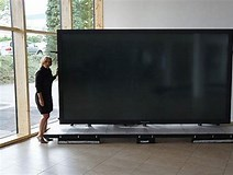 Image result for largest TV Screen. Size: 212 x 160. Source: sneakhype.com