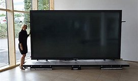 Image result for largest tv screen. Size: 272 x 160. Source: sneakhype.com