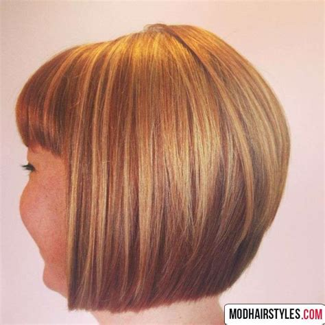 Inspire Hairstyle Books With Pictures by Back View Of Layered Graduated Bob Hairstyle