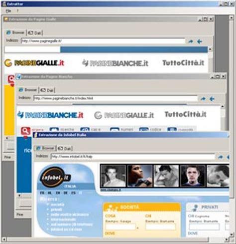 pagine gialle banche estractor estrazione indirizzi e numeri telefonici ed e mail
