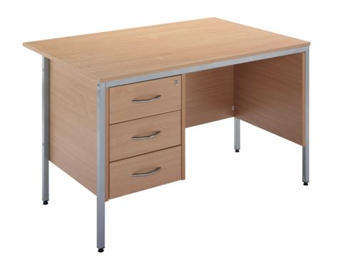 a desk single pedestal office desk 1200mm