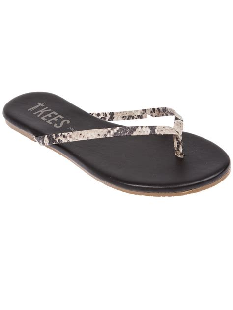 tkees sandals tkees flat sandal in gray black lyst