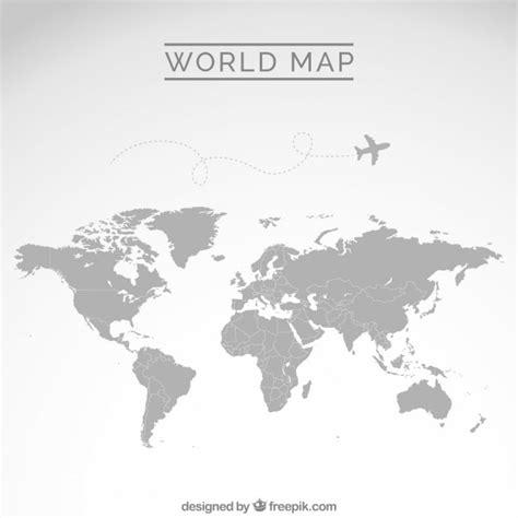 minimal world map mapa mundo gris descargar vectores gratis