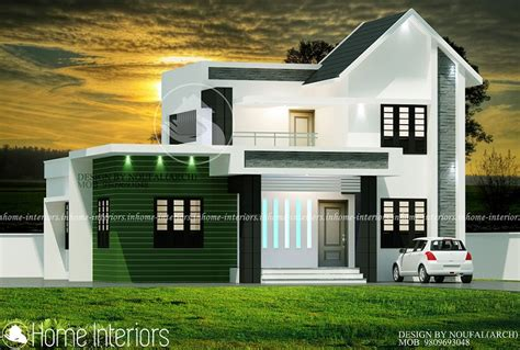 1600 sqft 3 bhk budget house design from triangle visualizer 1600 square feet double floor 3 bhk modern budget home design