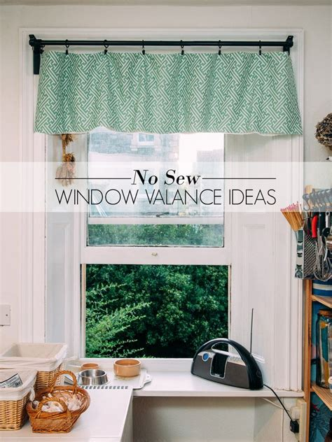 window ideas avalon sew window cornice decorating kitchen no sew window valance ideas