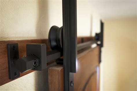 custom interior barn door hardware hex bar installation