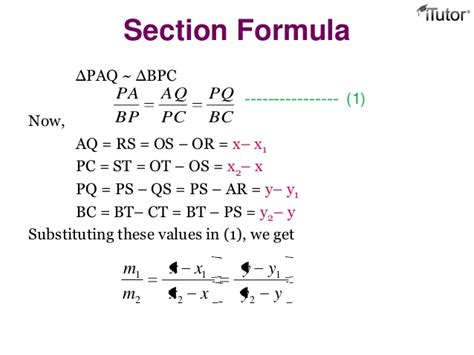 section formula geometry grid section formula