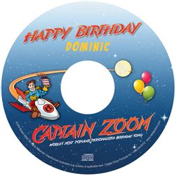 captain zoom s birthday song personalized music cd