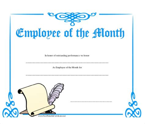 Employee Of The Month Certificate Template With Picture by Employee Of The Month Template Cyberuse
