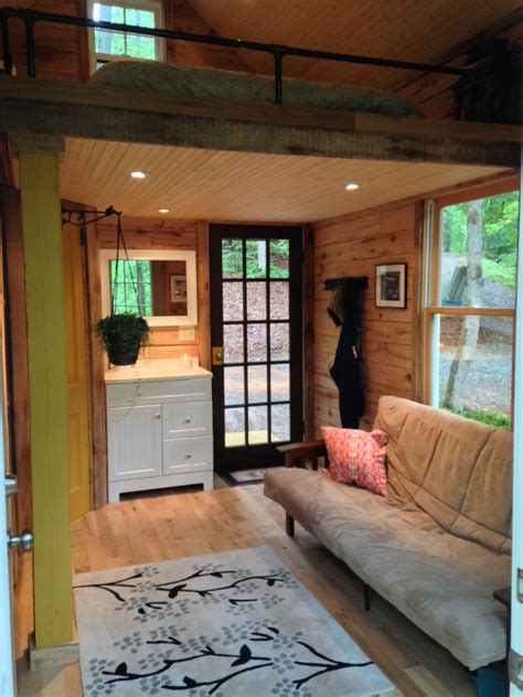 180 square foot tiny house with the open feel of a