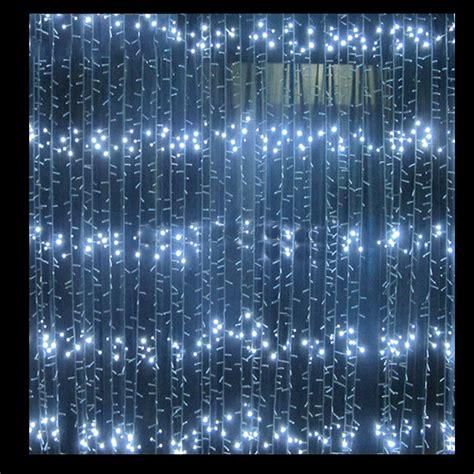 2m White Led Waterfall Lights Festive Lights Lights Waterfall Lights