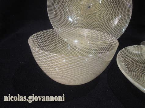 barovier e toso catalogo vasi 8 bols assiettes 4 verres 1950 a reticello murano